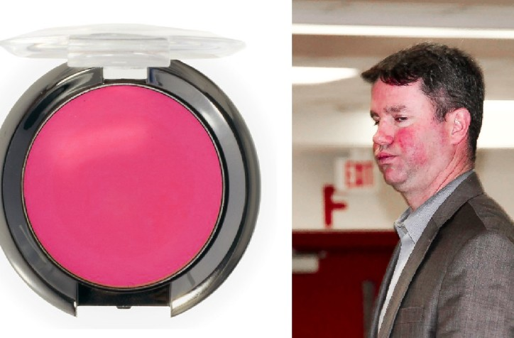 Left: The blusher; Right: Trumble tests Trumble Rouge #nofilter #dazzling