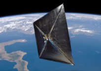 NanoSail-D, a small satellite launched in 2010 that is very similar to the CayugaSat concept. (Image provided)