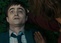 """""""[Radcliffe] really does pull off being a corpse."""" (Image provided)"""