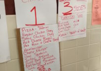 A list of the many meal selections at the IHS Cafeteria. (Image by Daniel Xu)